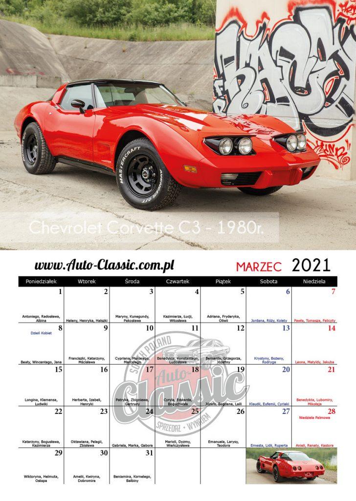 Kalendarz Auto-Classic 2021