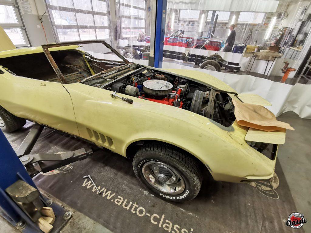 renowacja chevrolet corvette c3 cabrio 1968r